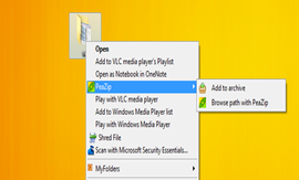 compress files PeaZip
