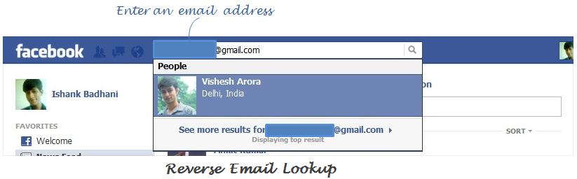 Поиск по людей по email