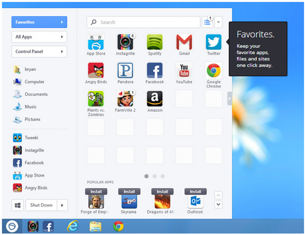 Pokki Start menu Windows 8