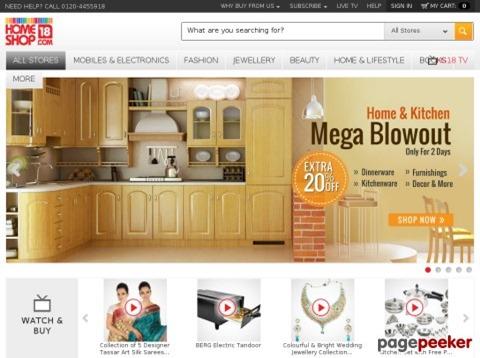 Homeshop18 Shopping Site