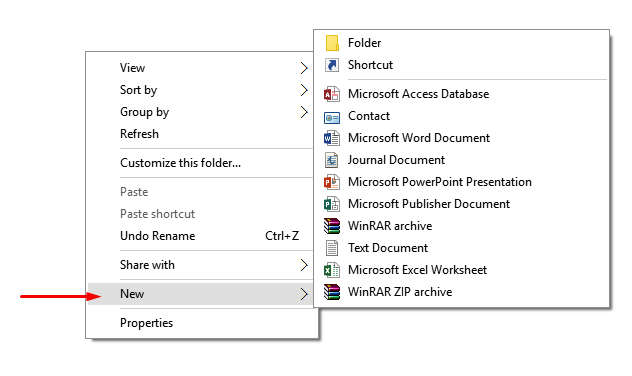 Windows 10 Context Menu