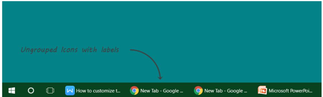 how to change taskbar position in windows xp