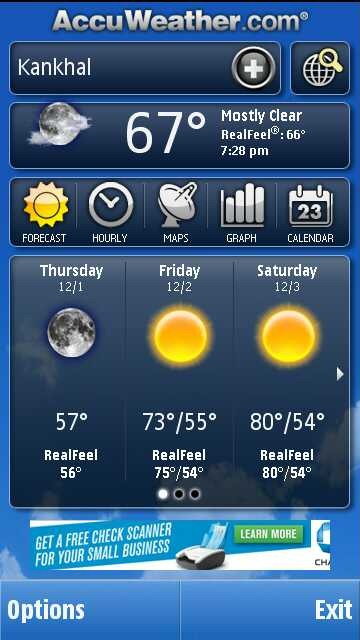 AccuWeather- Free Weather App For Nokia Symbian Phones on intellicast weather, yahoo weather,