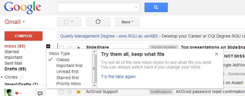 Find Unread Mails Gmail