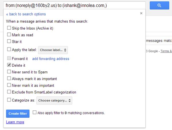 Auto Delete Gmail Messages