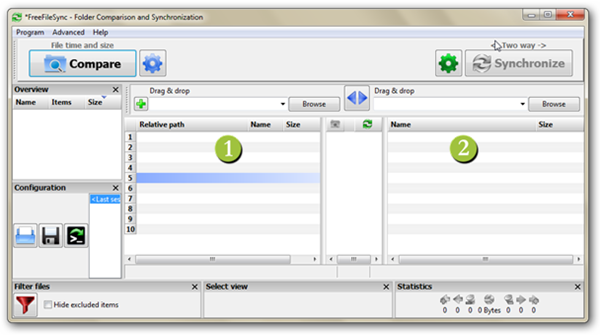FreeFileSync Interface