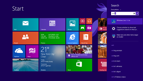 Search apps Windows 8 & 8.1