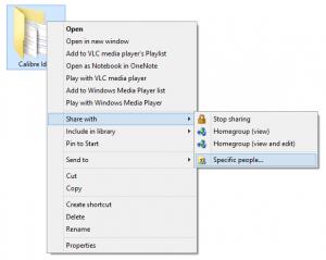 Share Files Context menu