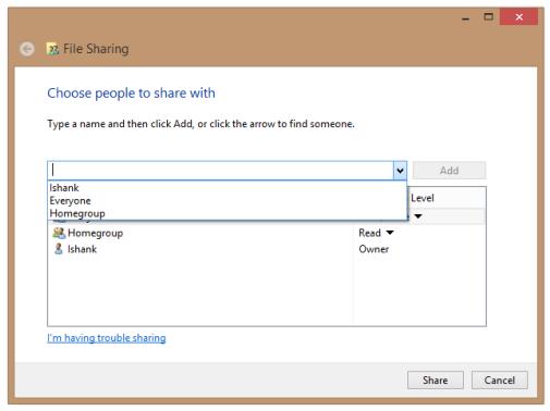 Share Files Windows