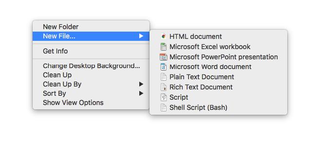 Create New File Right-Click On Mac